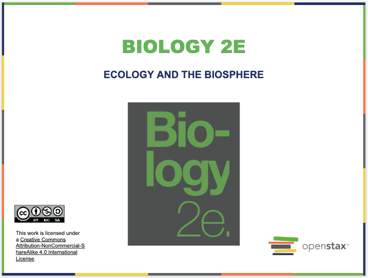Ecology and the Biosphere Resources
