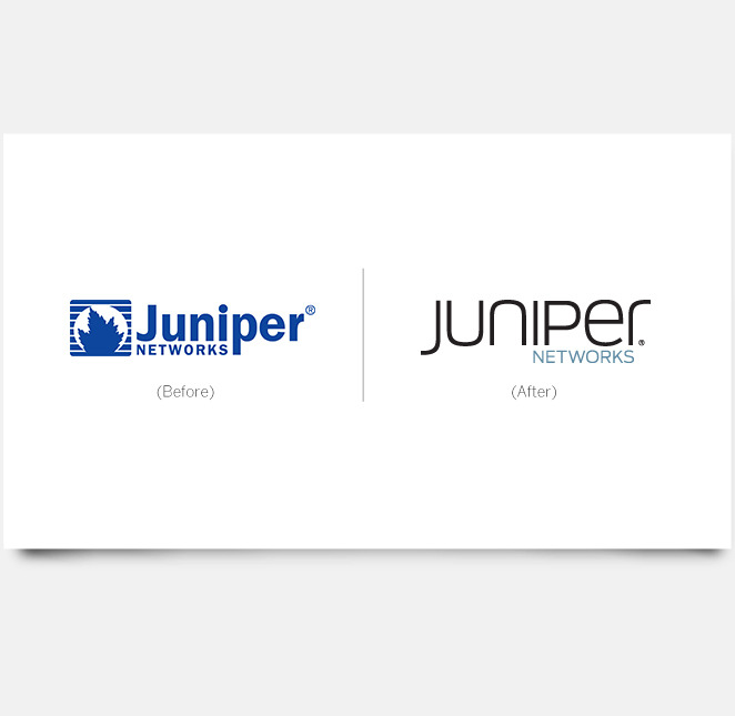 Brand Relaunch Juniper Networks_Juniper Networks Logo Redesign Before After