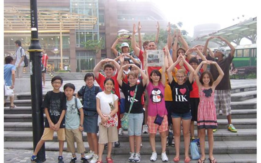O H I O Grove City 5th And 6th Graders In Hong Kong