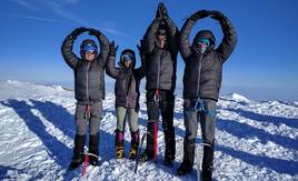 O-H-I-O at Summit of Mt. Rainier
