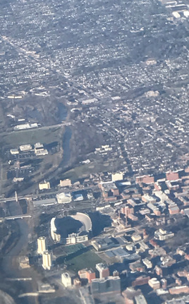 8,000 feet over campus