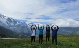 The Case Family in the Swiss Alps