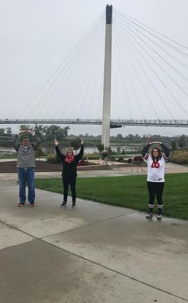 """O-H-I-O in front of  """"Bob The Bridge"""""""
