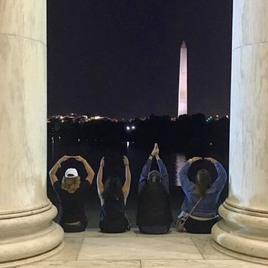 O-H-I-O at the Jefferson Memorial