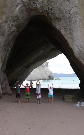 O-H-I-O @ Cathedral Cove New Zealand