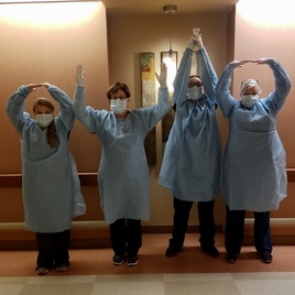 Even though we have to wear blue, we are proud Buckeyes ❤️O-H-I-O ❤️