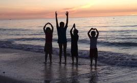 Junior Buckeyes on Sunset Beach