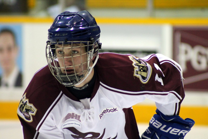 Chad Denault is ready to go at 2016 Petes Development Camp