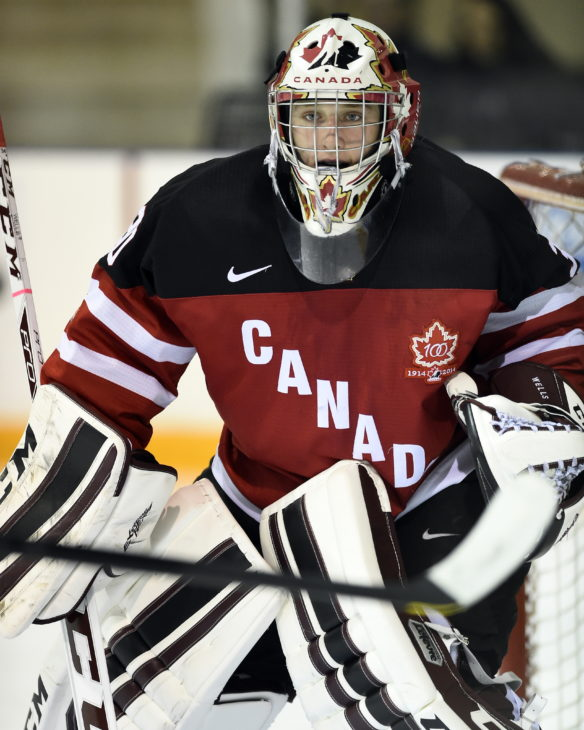 Dylan Wells of the Peterborough Petes represented Team Canada Red at the World Under-17 Hockey Challenge in Sarnia and Lambton, ON November 2-8, 2014. Photo by Aaron Bell/CHL Images