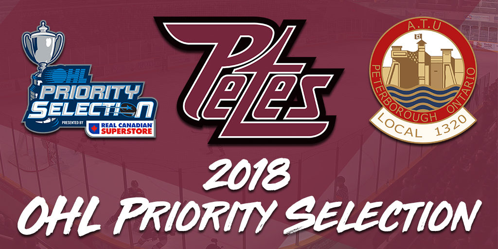 Petes Select 15 Players in the OHL Priority Selection