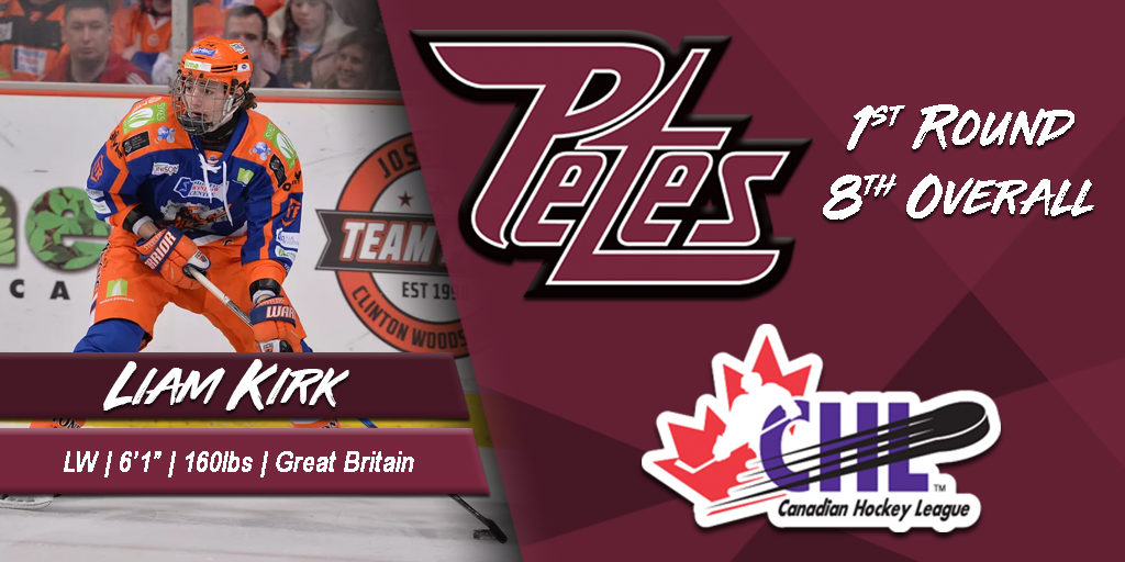 Petes Select Liam Kirk in First Round of CHL Import Draft