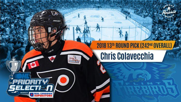 Chris Colavecchia Flint Firebirds OHL Hockey