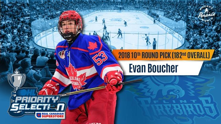 Evan Boucher Flint Firebirds OHL Hockey