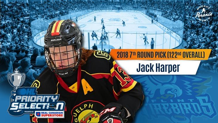 Jack Harper Flint Firebirds OHL Hockey