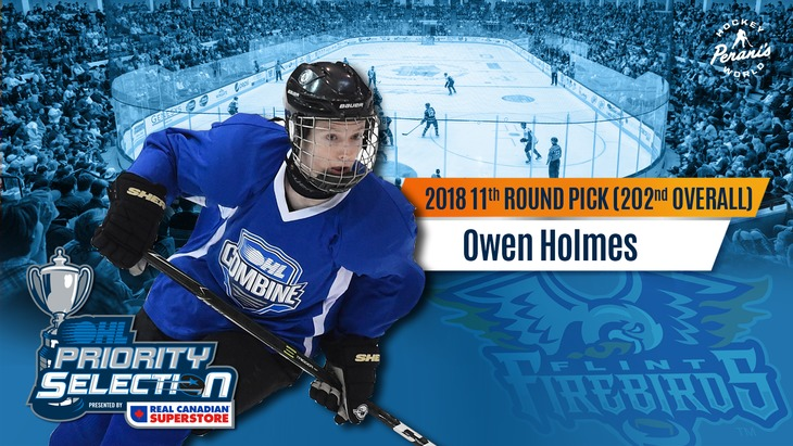 Owen Holmes Flint Firebirds OHL Hockey