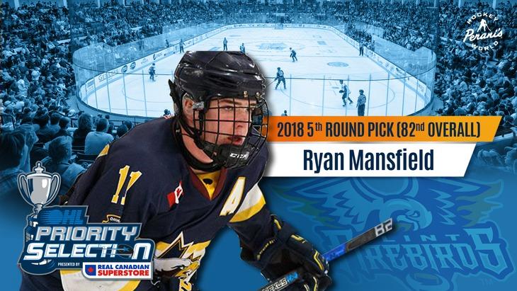 Ryan Mansfield Flint Firebirds OHL Hockey