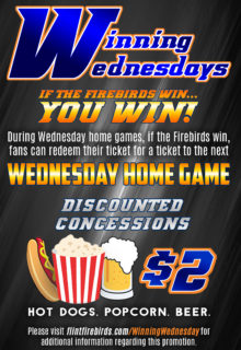 Flint Firebirds Winning Wednesday Hockey