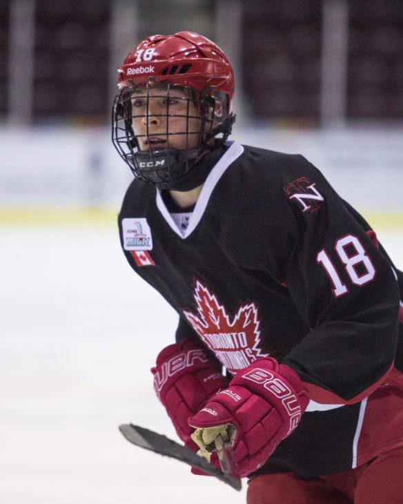 (Mason Primeau of the Toronto Nationals Minor Midget AAA. Photo by Troy Shantz/OHL Images).