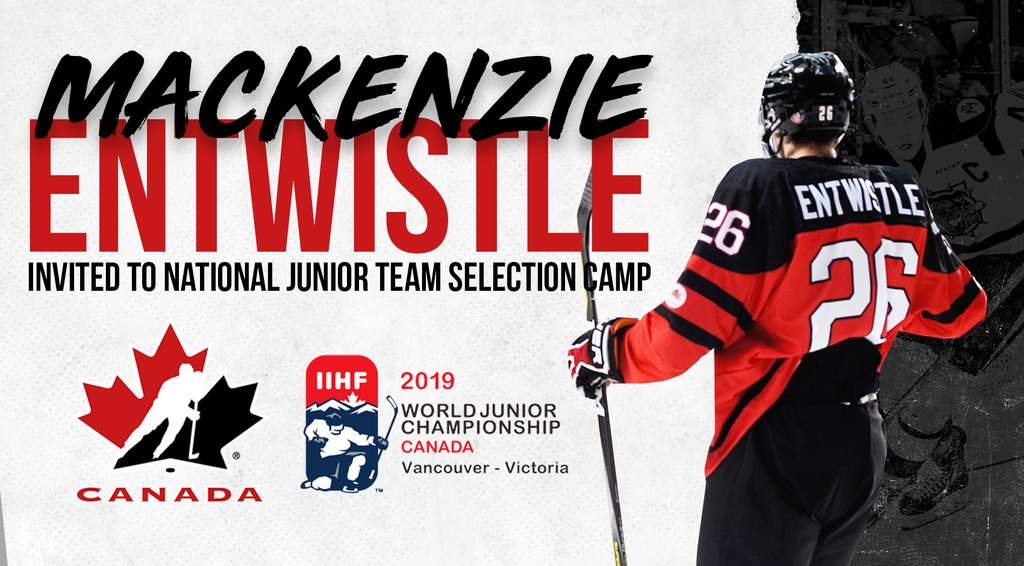 new product d5001 e4ed8 MACKENZIE ENTWISTLE PICKED FOR CANADA'S WORLD JUNIOR ...