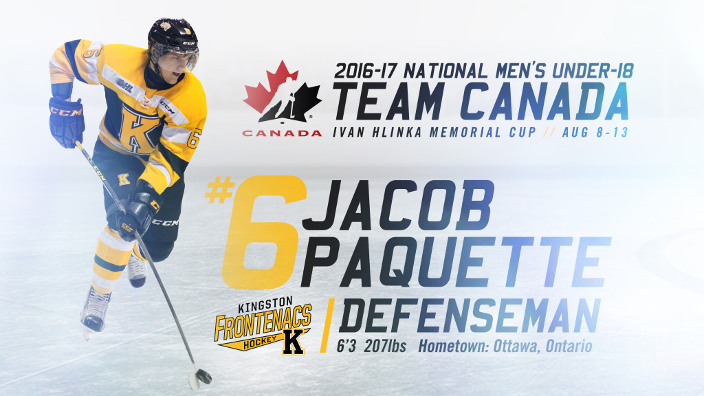 Paquette and 11 other OHL players named to Canada's National