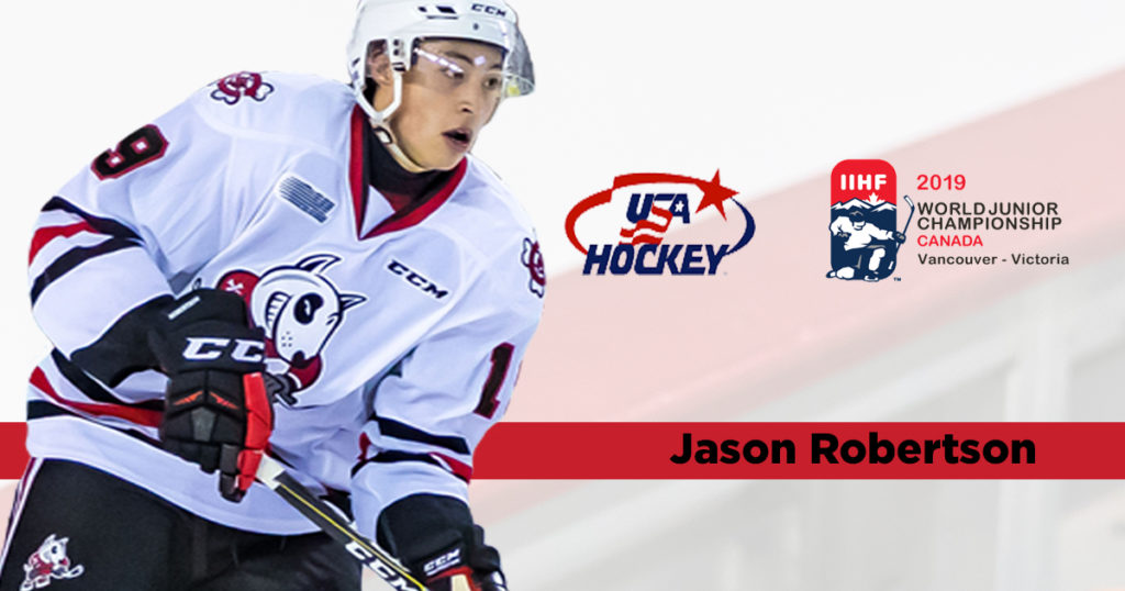 Jason Robertson Named To American World Junior Roster Niagara Icedogs