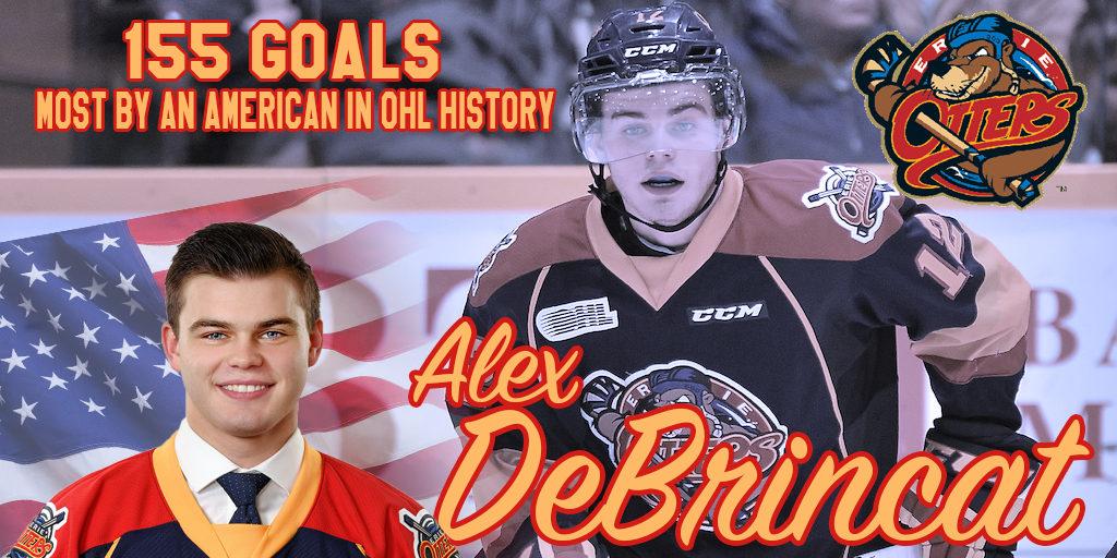 Otters Debrincat The Leading American Goal Scorer In Ohl History