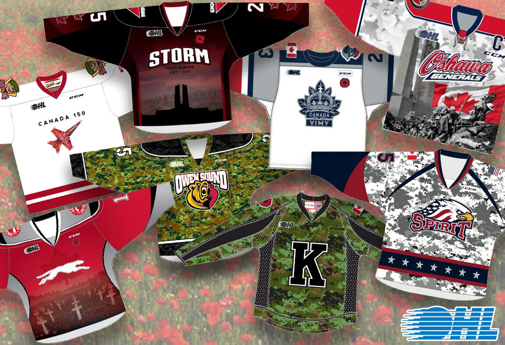 hot sale online 47a9d 62adf OHL Teams Honour Brave Men and Women of Service – Ontario ...