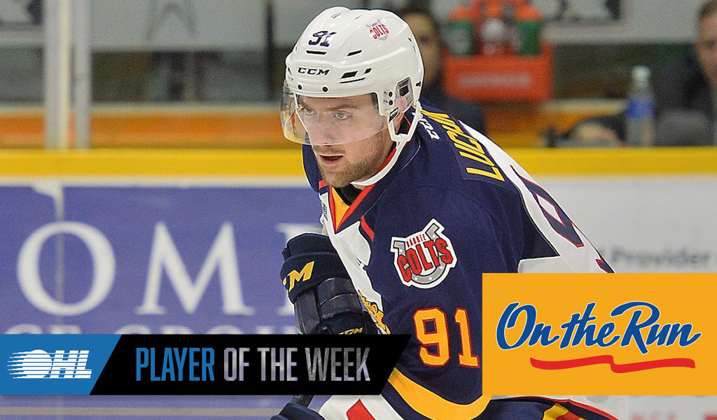 OHL 'On the Run' Player of the Week: Aaron Luchuk – Ontario