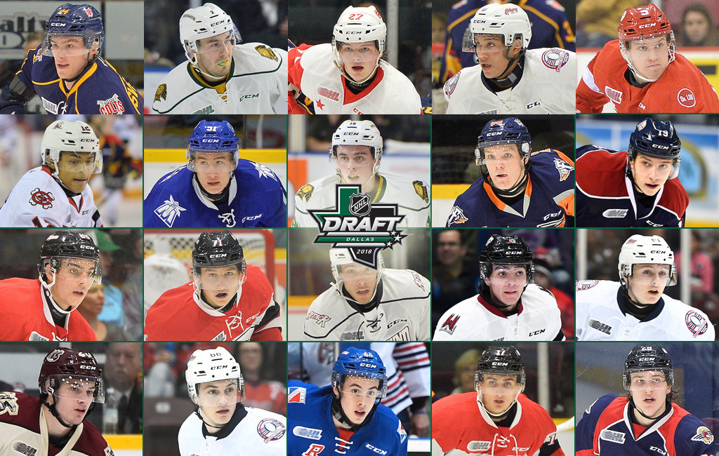 Ohl Talent Ready For 2018 Nhl Draft Ontario Hockey League