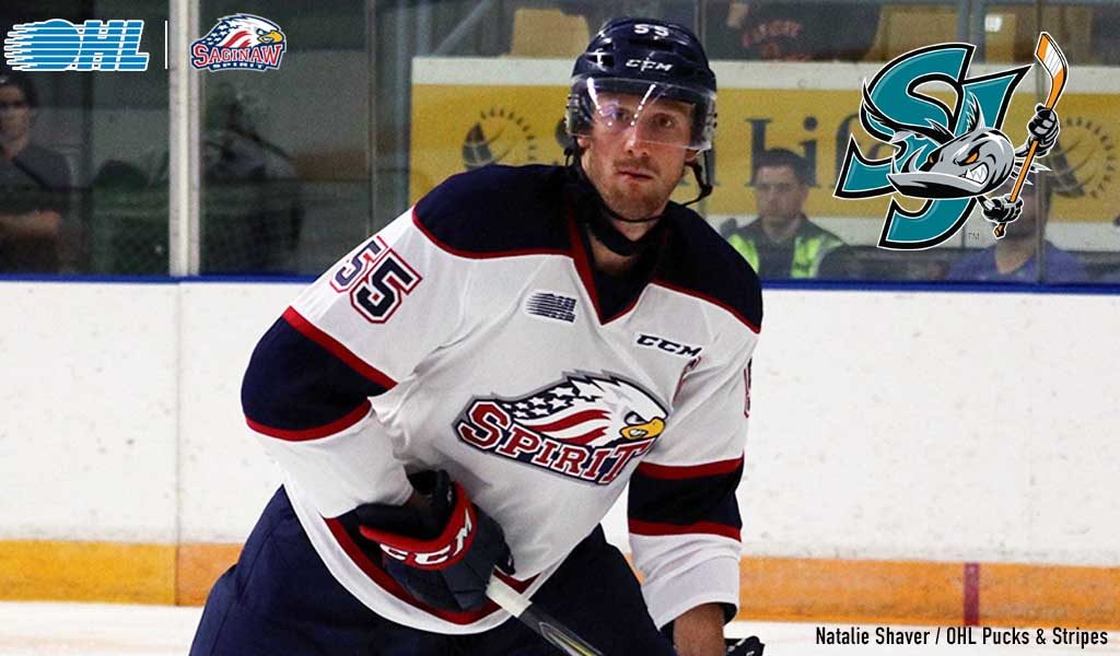 Spirit S Middleton Signs Ahl Contract With San Jose Ontario Hockey