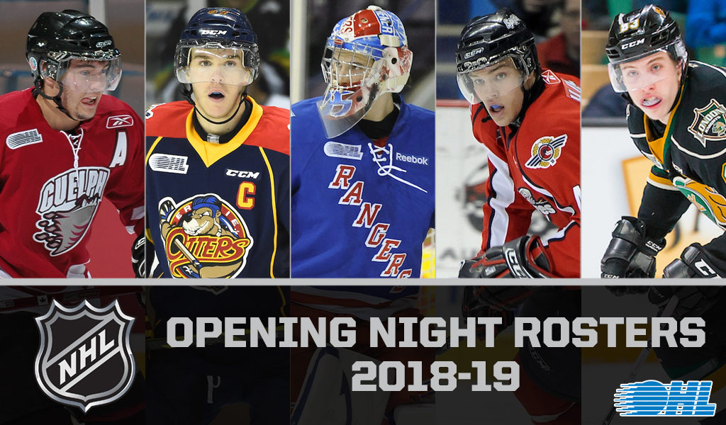 156 Ohl Alumni Listed On 2018 19 Nhl Opening Night Rosters Ontario
