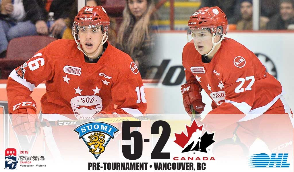 Canada Falls To Finland In Pre Tournament Finale Ontario Hockey League