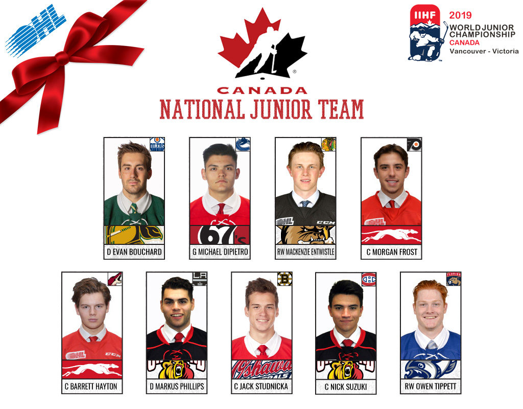 Nine Ohl Players Ready To Represent Canada At 2019 Iihf World