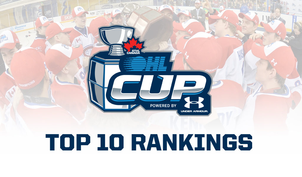pretty nice 50845 c8f69 OHL Cup Powered by Under Armour Week 4 Minor Midget Top-10 ...