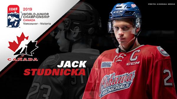 Generals Captain Jack Studnicka Invited To Hockey Canada S World