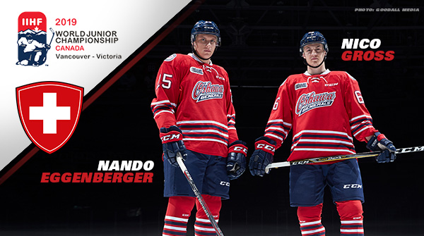 Generals Nico Gross And Nando Eggenberger Named To Swiss Hockey S