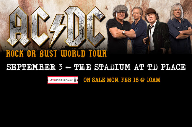 ac dc announce north american rock or bust world tour dates ottawa 67s. Black Bedroom Furniture Sets. Home Design Ideas
