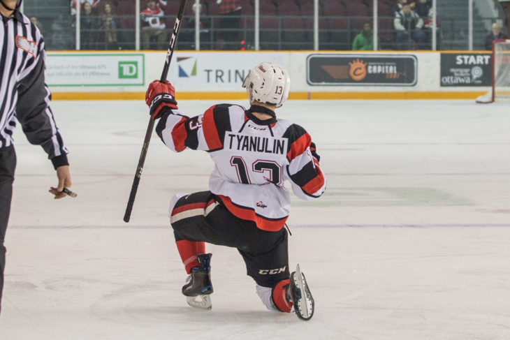 Ottawa 67 win 5-4 over the Hamilton Bulldogs