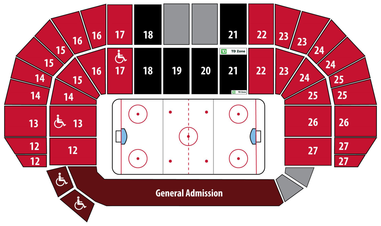 Season Ticket seating chart