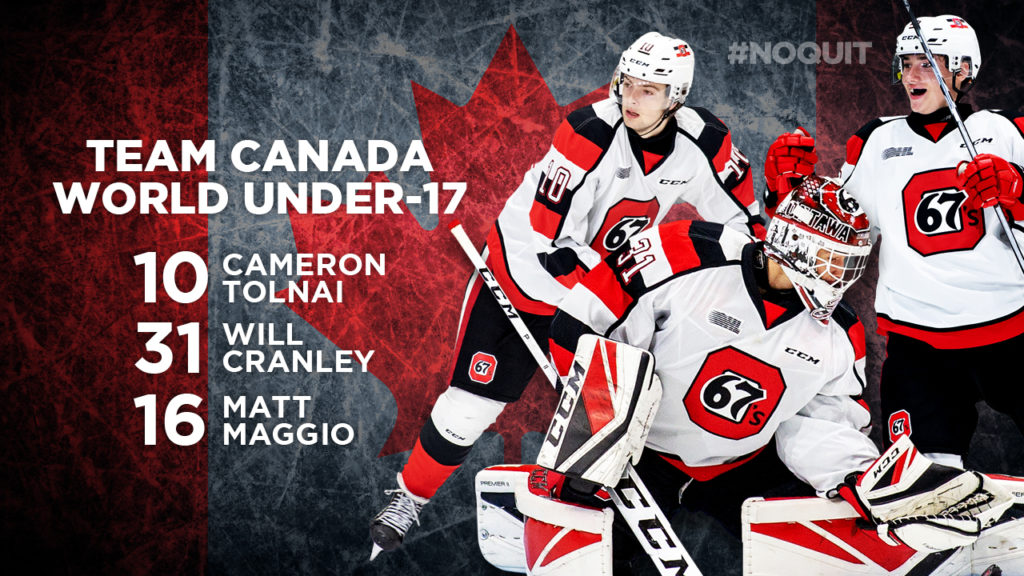 Three 67 S And Prospect Named To Team Canada For U17 Tournament
