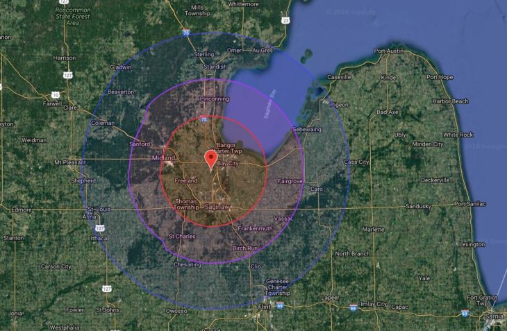 WSGW FM Coverage Map