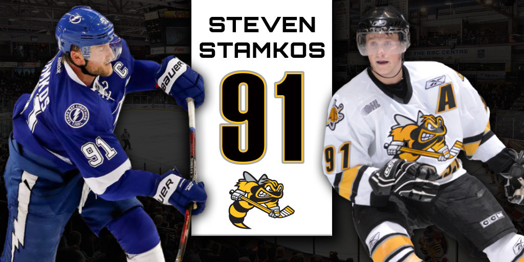 best service 832aa 8d5aa Sting to Retire Steven Stamkos' Number 91 – Sarnia Sting