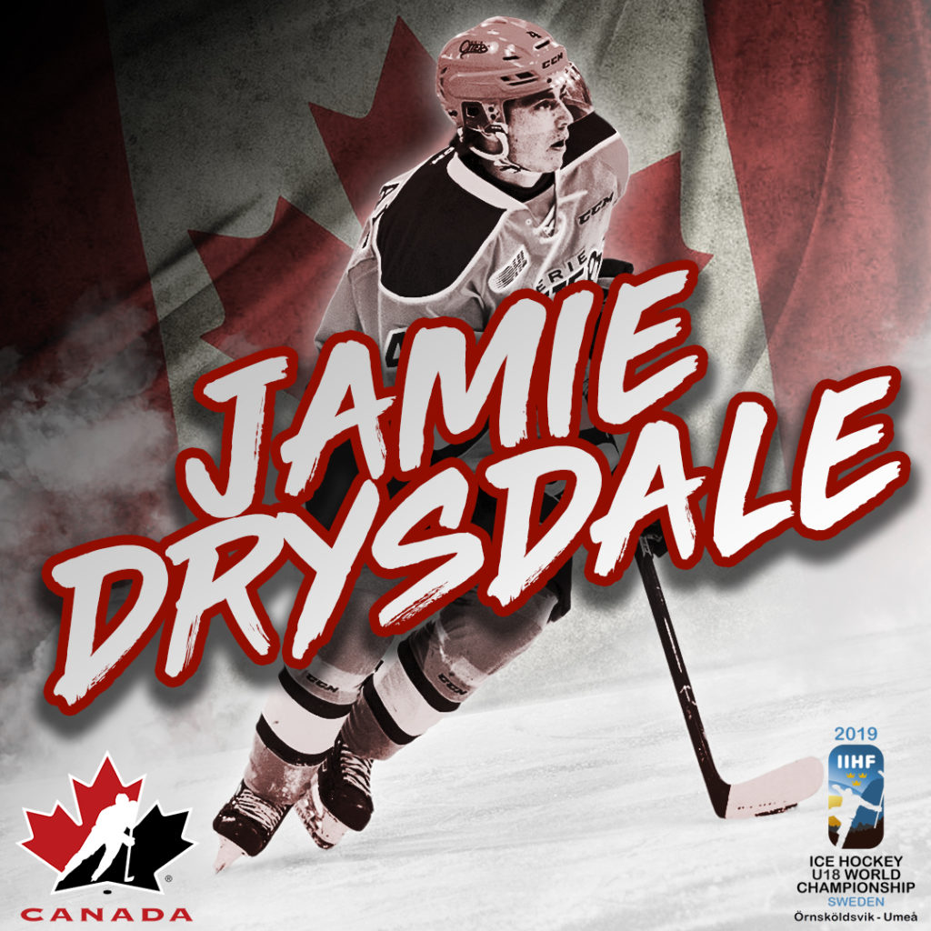 Drysdale Among 7 Ohl Players To Represent Canada At World U18 Hockey