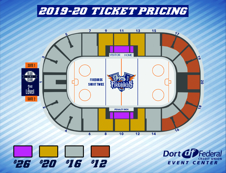 Flint Firebirds Seating Chart