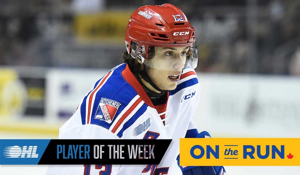 OHL 'On the Run' Player of the Week: Riley Damiani
