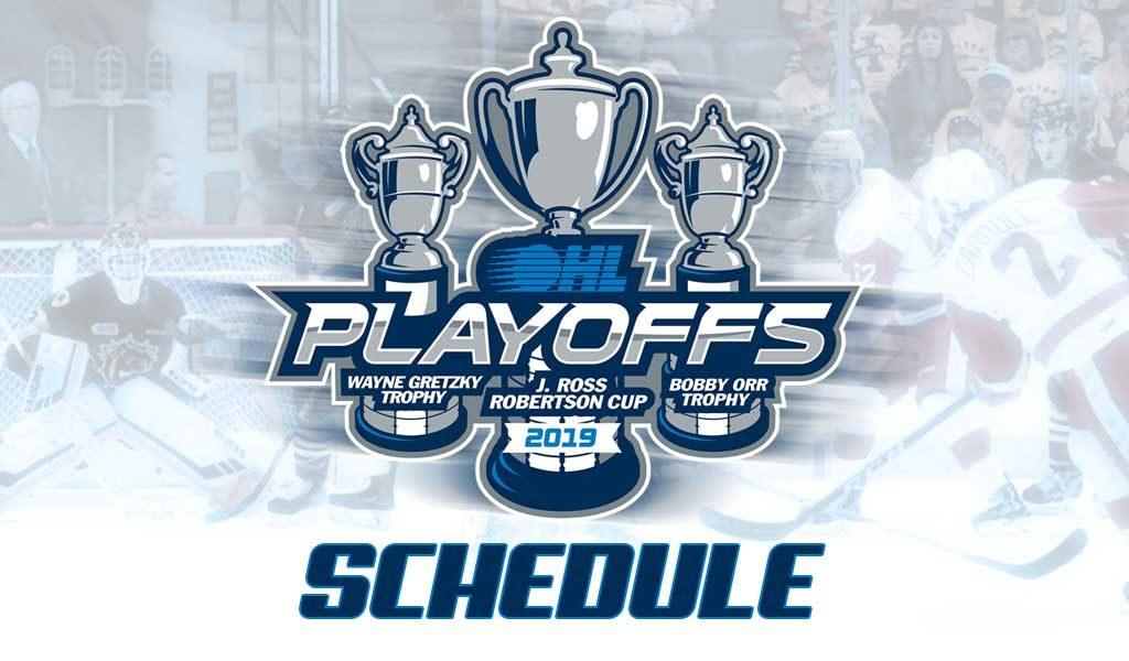 2019 Ohl Playoffs First Round Schedule Ontario Hockey League