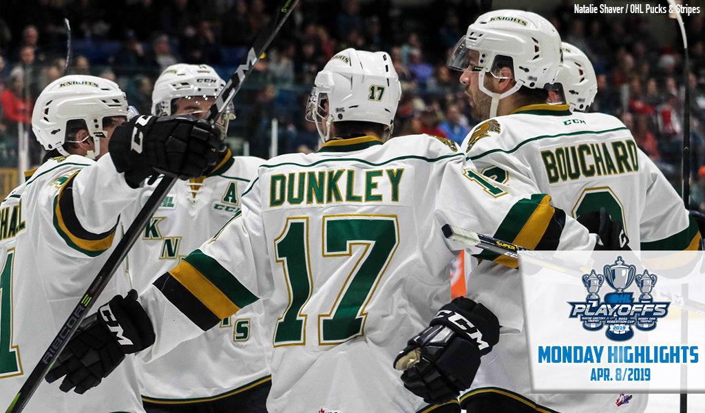 Monday Highlights Knights Strike For Seven Again Ontario Hockey