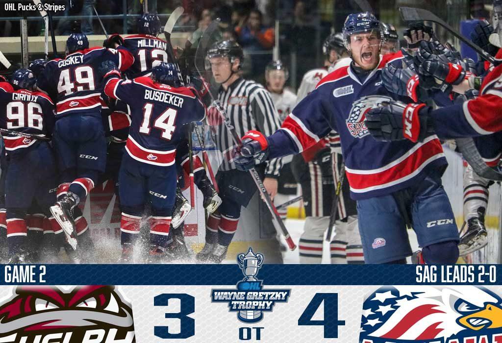 Saginaw Takes Spirited Game 2 In Overtime Ontario Hockey League