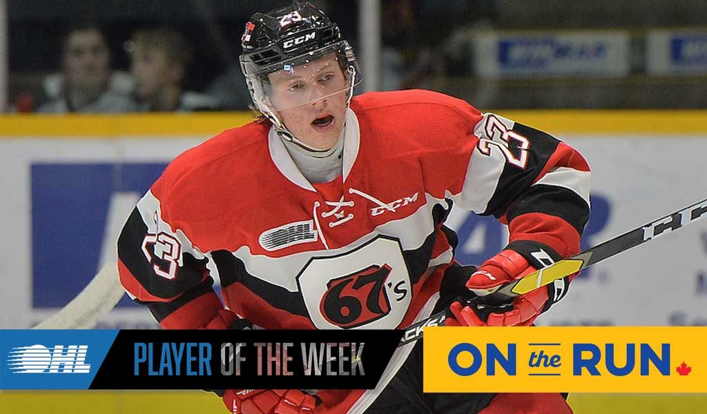 Ohl On The Run Player Of The Week Marco Rossi Ottawa 67s