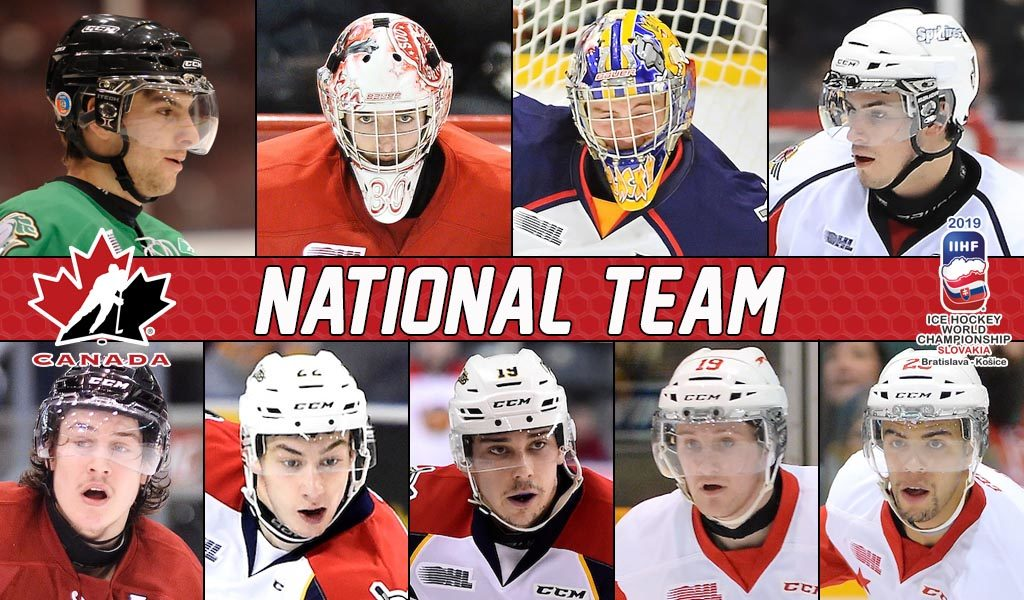 9 Ohl Grads To Represent Canada At 2019 Iihf World Hockey
